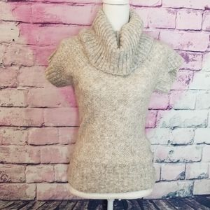 FOSSIL GRAY COWL NECK ALPACA BLEND SWEATER TOP